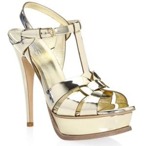 Saint Laurent Tribute Sandal Size 36 1/2/6 1/2
